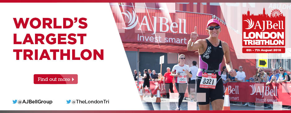 Proud title sponsor of the AJ Bell London Triathlon 2015